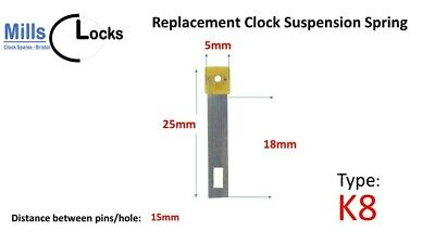 Clock Pendulum Suspension Spring. (25mm x 18mm x 5mm)  (Type K8)