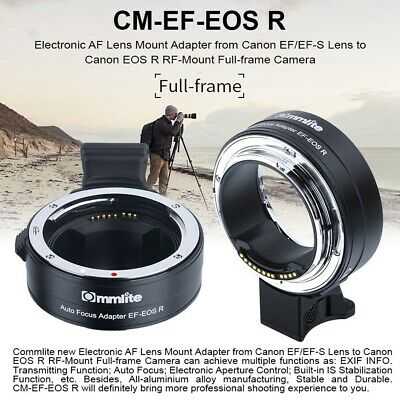 Commlite Auto Focus Lens Adapter Ring Kit for Canon EF/EF-S to EOS R RF-mount