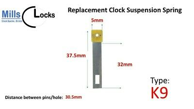 Clock Pendulum Suspension Spring. (37.5mm x 32mm x 5mm)  (Type K9)