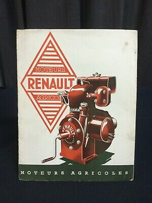 Rare Catalogue 1934 RENAULT Moteur FIXE Agricole Agriculture STAND Motor