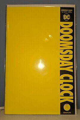 DOOMSDAY CLOCK #12 Blank Variant NM (2019) DC Comics Watchmen