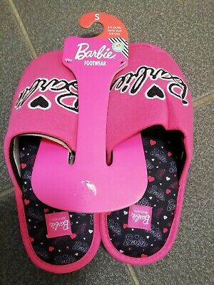 Barbie Slippers Girls/Ladies Size Uk 3-4 Small Pink