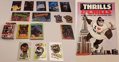 GOOSEBUMPS TRADING CARD LOT Dozens Rare Cards Book Tear-Outs Puzzle Topps Foil +