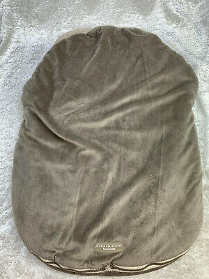 JJ Cole Collections BundleMe Gray Sherpa Lined Car Seat Stroller Cover
