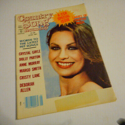 Crystal Gayle Covers Country Song Roundup Magazine June 1981 Dolly Parton