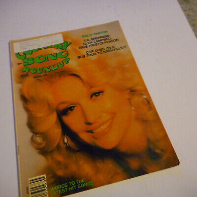 Dolly Parton Covers Country Song Roundup Magazine March 1976 Kris Kristofferson