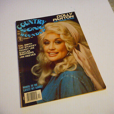 Dolly Parton Covers Country Song Roundup Magazine Decvember 1977 Jim Reeves