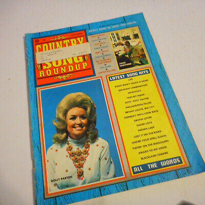 Dolly Parton Covers Country Song Roundup Magazine November 1971 John Hartford