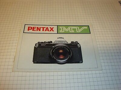 Pentax MV 35mm SLR Film Camera manual book