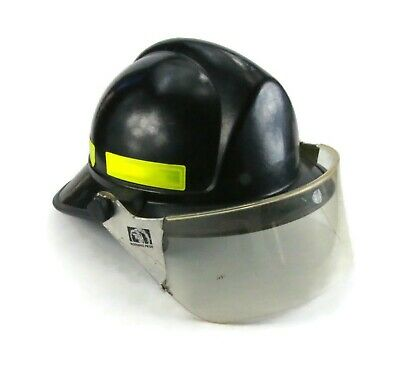 Morning Pride Fire Fighter Fireman's Helmet black with eye protector