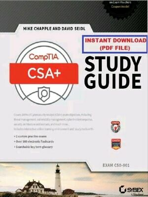 CompTIA CSA+ Study Guide: Exam CS0-001 by Mike Chapple