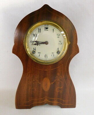 Restored Antique Sessions Eight Day Cathedral Gong Mahogany mantle clock