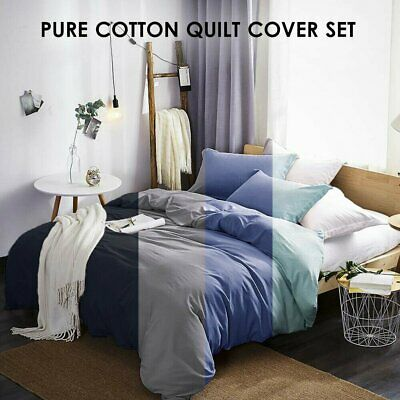 1000TC Single/KS/Double/Queen/King/Super King Quilt/Duvet Cover Set All Size