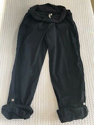 Nine&mine size 8 lightweight black maternity soft adjustable length pants