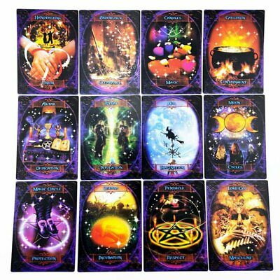 47x Witches Wisdom Oracle Cards ~Stunning Deck Of Cards And Information Book