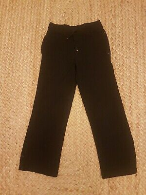 Girls School PE Trousers Size Age 7-8 Years Black