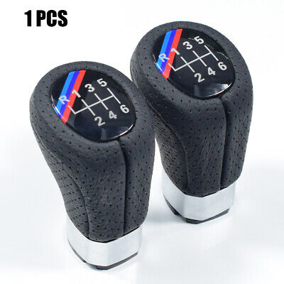 Gear Shift Knob M SPORT PU Leather 6 Speed For BMW 1' 3' E81 E82 E90 E91 E92 QS