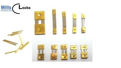 10 Brass Assorted Clock Pendulum Suspension Springs and Pins Chime (10sp)