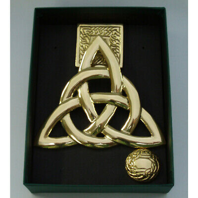 Door Knocker Irish Brass Trinity Knot Design Measures 5.5' by 5'