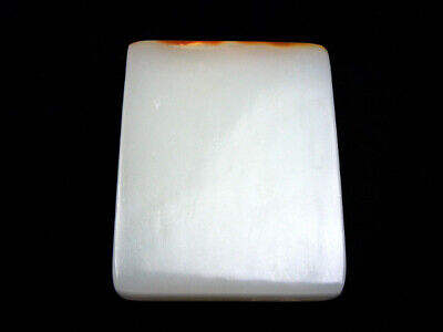 HeTian Jade Carved EXTRA LARGE Blank Pendant Sculpture #01010208