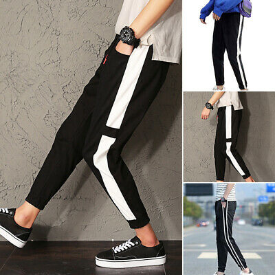 Homme Pantalon de Loisir Course Long Sport Fitness Gym Jogging Survêtement