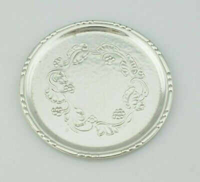 Georg Jensen Sterling Silver Danish Butter Pat Small Dish Floral Design