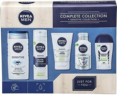 Nivea Men Complete Sensitive Collection Gift Set 5 Full Size Items