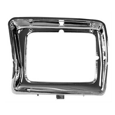 78-79 Ford Pickup Truck F-100/F-150 Headlamp Light Door - Rectangle / Chrome LH