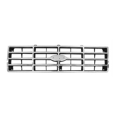 82 - 86 Ford Pickup Truck F-100/F-150 Front Grille Insert - Chrome / Black