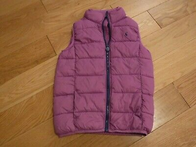 Joules purple girls body warmer/gillet age 9-10 years, in excellent condition