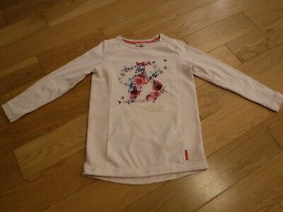 Baker by Ted Baker Girls pale pink floral print sweatshirt, Age 9-10 years