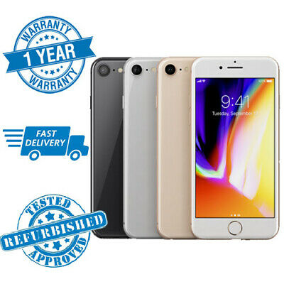 Apple iPhone 8 64GB 256GB Silver Gold Red Space Grey Unlocked Smartphone