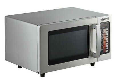 Stainless Steel Commercial Microwave Oven Push Button Controls 1000W Restaurant