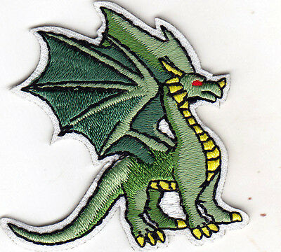 RED DRAGON Iron On Patch Legendary Animal Fantasy Mythical