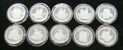 10 Johnson Matthey American Freedom Series 1 oz .999 Silver Rounds Sealed -#1077