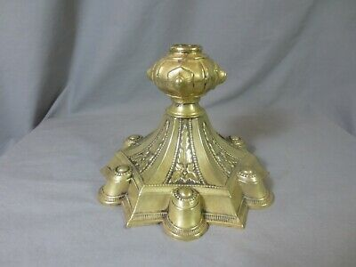 Antique Victorian Rare Style Hinks & Son's Brass  Oil Lamp Base