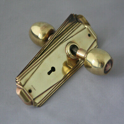 Original 1930s Art Deco Door Handles