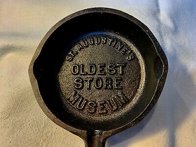 VTG Salesman Sample Cast Iron Skillet St Augustines Oldest Store Museum Antique