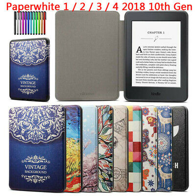 For Amazon Kindle Paperwhite 1 2 3 4 2018 10th Auto Sleep Wake Smart Case Cover