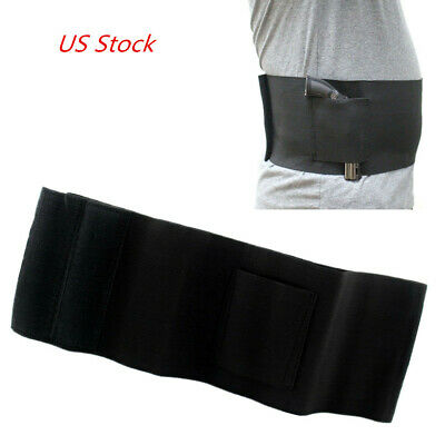 Tactical Belly Band Waist Pistol Gun Holster with 2 Mag Pouches US STOCK