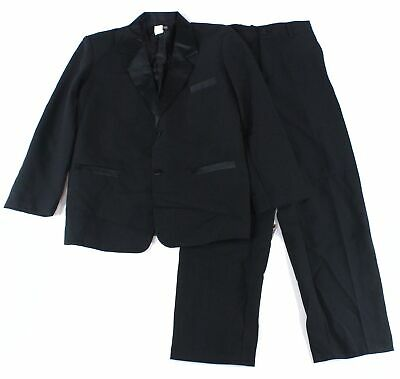 Gino Giovanni Boys Suits Black US Size 14 2-Piece Two-Button Notch Lapel $79 248