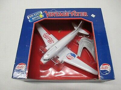 Pepsi-Cola Vintage Flyer Die Cast Coin Bank Mint In Box Airplane Model
