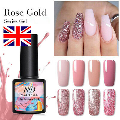 MAD DOLL 8ml Nail Glitter Sequins UV Gel Polish Soak Off Nail Art Varnish Decors