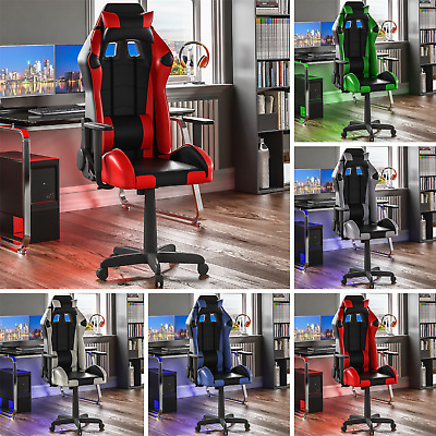 Racing Gaming Office Chair Executive Home Swivel Recliner Leather Computer Desk
