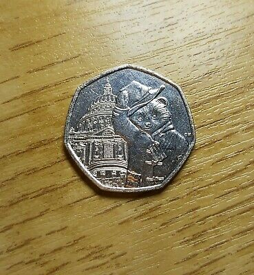 2019 Very RARE PADDINGTON BEAR AT ST PAULS CATHEDRAL 50P FIFTY PENCE COIN