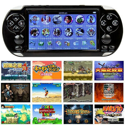 """X9 Handheld Video Game Console Rechargeable 5"""" 8G 32bit Portable Game Player UK"""