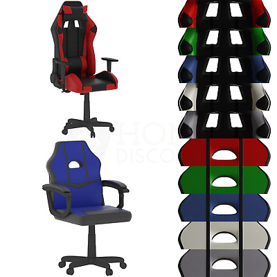 Racing Gaming Office Chair Executive Swivel Recliner Home Leather Computer Desk