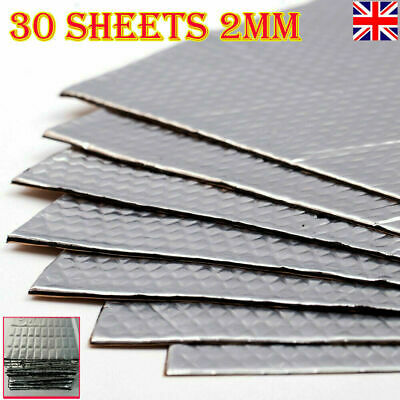 Silent Sound Deadening 2mm Compact 30 Sheets Pack Car Van Damping Mat  Proofing