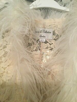 Catwalk Collection antique Cream Lace Wedding  Special Occasion Outfit 8 10 12