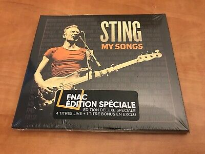 Rare French Fnac 2Cd Digipack 20T Bonus Sting My Songs (Neuf) Fragile/Roxanne